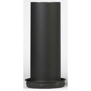 "Selkirk 6T-DSAC 6"" Black Matte Dripless Smoke Pipe Apapter With Coupler"