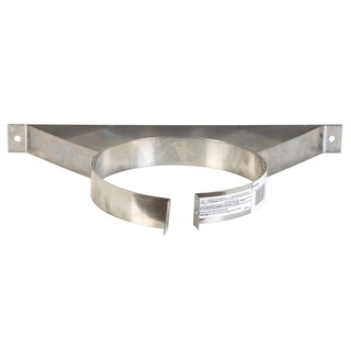 "Selkirk 6T-WB 6"" Stainless Steel Wall Band"