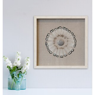 Brown Tipped Feather Circle Shadowbox