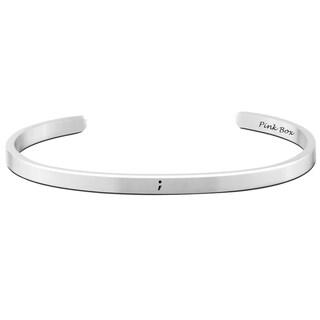 Pink Box Stainless Steel 5-millimeter ';' Cuff Bracelet