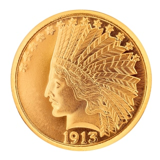 American Coin Treasures Gold $10 Indian Head Piece 1907-1933 Replica Coin