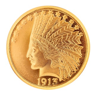 Link to American Coin Treasures Gold $10 Indian Head Piece 1907-1933 Replica Coin Similar Items in Fashion Jewelry Store