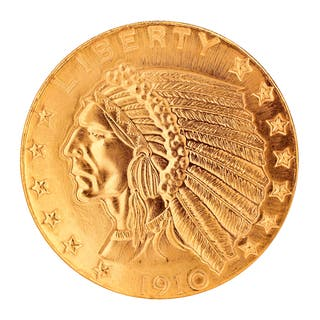 American Coin Treasures Tribute to America's Most Beautiful Coins - $5 Indian Head Gold Piece 1908-1929 Replica Coin|https://ak1.ostkcdn.com/images/products/13002123/P19746728.jpg?impolicy=medium