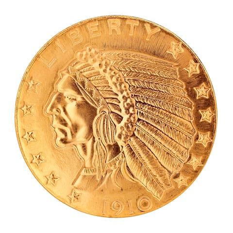 American Coin Treasures Tribute to America's Most Beautiful Coins - $5 Indian Head Gold Piece 1908-1
