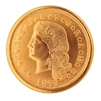 Flowing Hair Gold Piece 1879-1880 Replica Coin