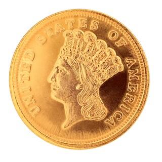 $3 Gold Piece 1854-1889 Replica Coin