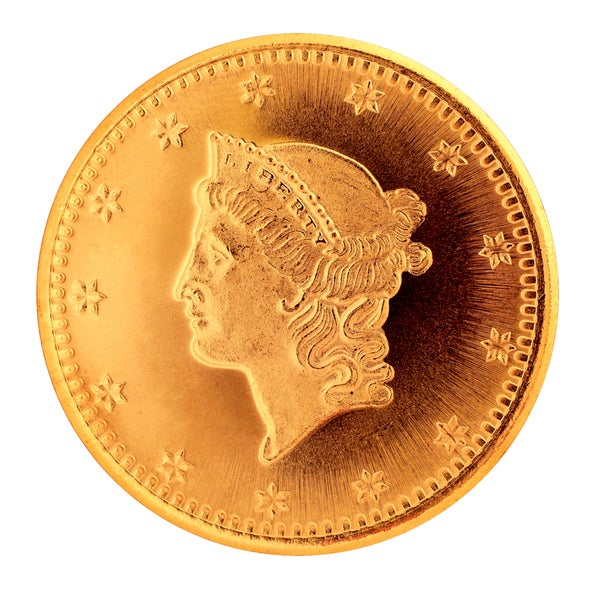 Tribute to America's Most Beautiful Coins Liberty Head Gold $1 1849-1854 Replica Coin