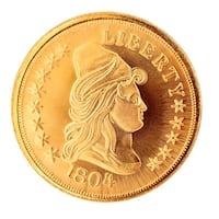 Tribute to America's Most Beautiful Coins overlay $10 Heraldic Eagle
