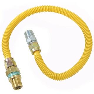 """Brass Craft CSSD44R-36 P 1/2"""" MIP X 1/2"""" MIP X 36"""" Gas Connector"""