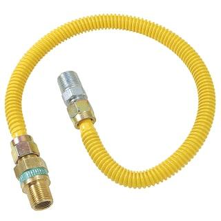 """Brass Craft CSSD44R-48 P 1/2"""" MIP X 1/2"""" MIP X 48"""" Gas Connector"""