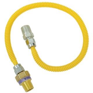 """Brass Craft CSSL44R-36 P 1/2"""" MIP X 3/8"""" MIP X 36"""" Gas Connector"""