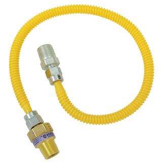 """Brass Craft CSSL44R-48 P 1/2"""" MIP X 3/8"""" MIP X 48"""" Gas Connector"""