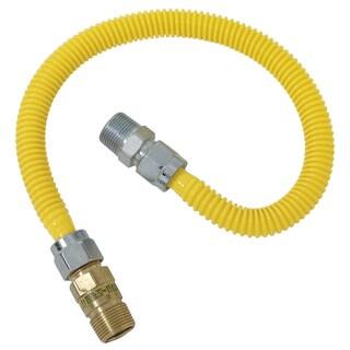 """Brass Craft CSSC44R-48 P 1/2"""" MIP X 1/2"""" MIP X 48"""" Gas Connector"""