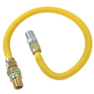 """Brass Craft CSSD44R-24 P 1/2"""" MIP X 1/2"""" MIP X 24"""" Gas Connector"""