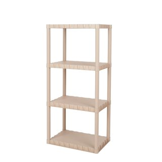 Keter 4-tier 23 in. W x 15 in. D x 49 in. H Sand Freestanding Plastic Shelving Unit Storage Rack