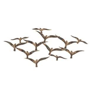 Urban Designs Flying Flock of Birds 43-inch Metal Wall Art|https://ak1.ostkcdn.com/images/products/13002219/P19746760.jpg?impolicy=medium