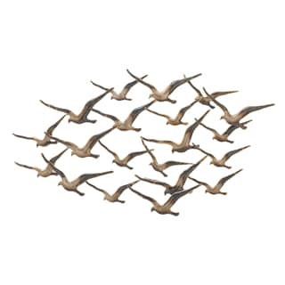 Urban Designs 'Flying Flocking Birds' Dark Bronze Metal 45-inch Wall Art
