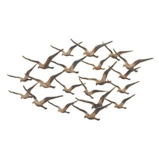 Urban Designs 'Flying Flocking Birds' Dark Bronze Metal 45-inch Wall Art