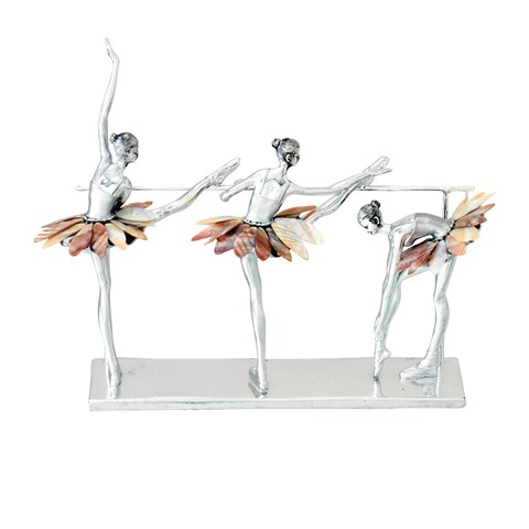 Urban Designs Three Ballet Dancers Polyresin Decorative Figurine
