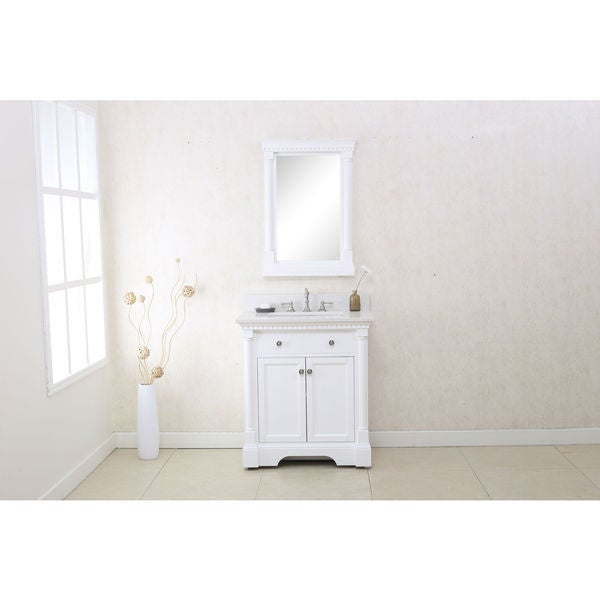 Shop Legion Furniture 30 Quot Matt White Single Sink Vanity