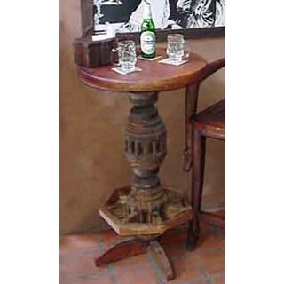 Santa Fe Brown Wood Pub Table