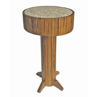 TF-0968 Honey Eucalyptus and Glass-top Bar Table (Thailand)
