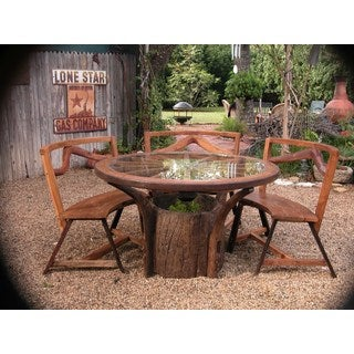 Groovystuff TF-0095 Jackson Hole Teak Wood Dining Patio Table