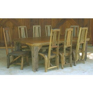 Groovystuff TF-0320 Ranch House Reclaimed Teak Wood Dinner Table