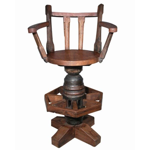 Brilliant Handmade Groovystuff Tf 0040 A Hub Reclaimed Teak Wood Swivel Bar Stool United States Unemploymentrelief Wooden Chair Designs For Living Room Unemploymentrelieforg