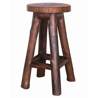 TF-0308-30 Groovystuff Garden Brown Teak Bar Chair (Thailand)