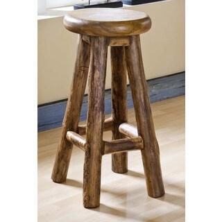 Groovystuff TF-0971-30 Nova Brown Reclaimed Teak Wood Barstool