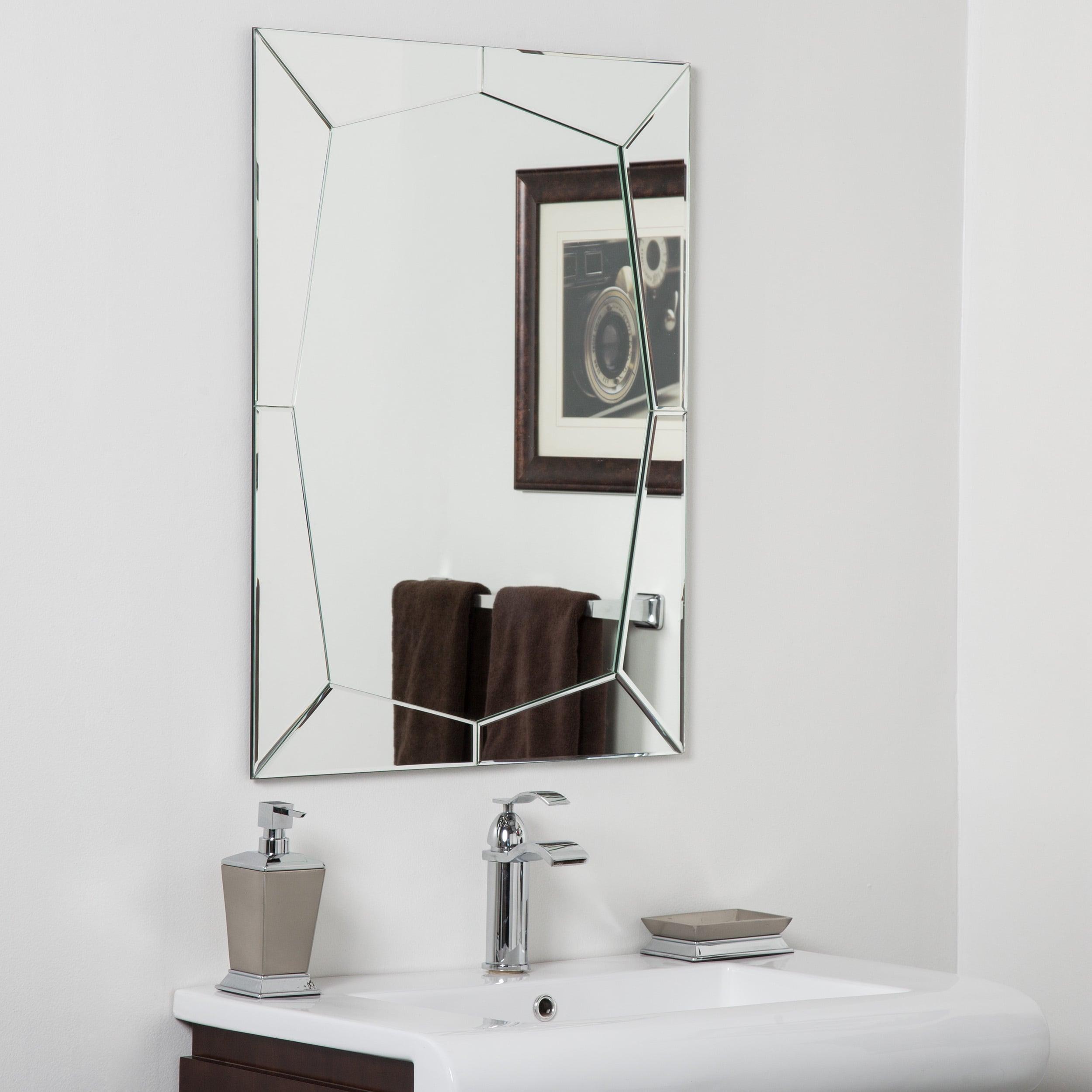 Clear Gl Frameless Bathroom Mirror