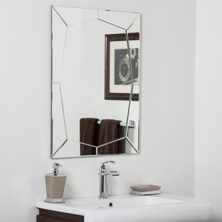 Carstadt Modern Clear Glass Frameless Bathroom Mirror