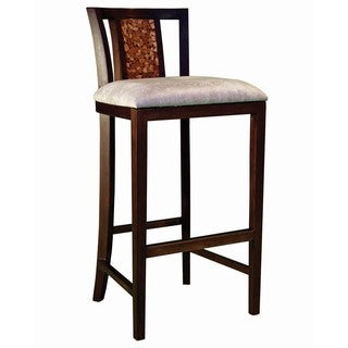 Groovystuff TF-0989-30 Baron's Bar Chair Stool Reclaimed Teak Wood
