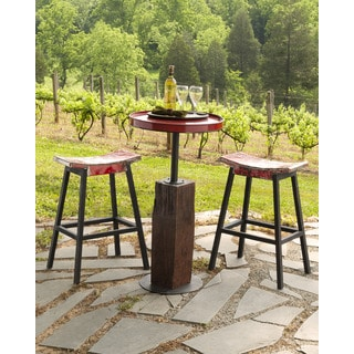 TF-0996-30-RE Ruby Coda Saddle Seat Bar Stool (Set of 2)