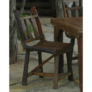 TF-0039 Groovystuff Brown Teak County Chair (Thailand)