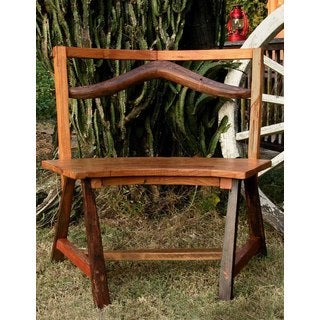 Handmade TF-0108 Groovystuff Circuit Brown Reclaimed Teak Wood Dining Bench Chair (Thailand)
