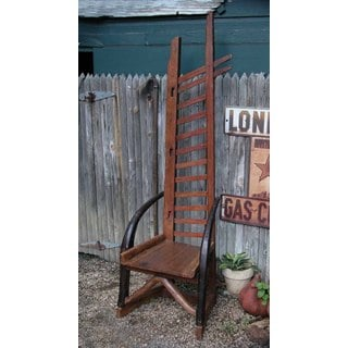 Handmade TF-0552 Sundance Brown Wood Ladder Chair (Thailand)