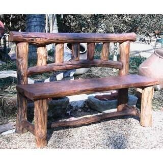 Handmade TF-0560 Groovystuff Rocky Mountain Brown Teak Garden Bench (Thailand)