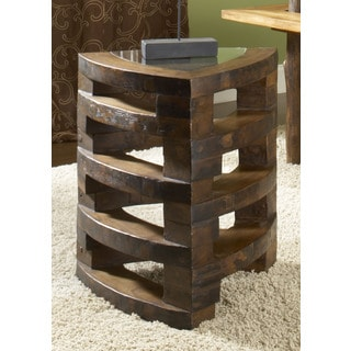 Kacie Leisure Stacking Brown Teak End Table (Thailand)