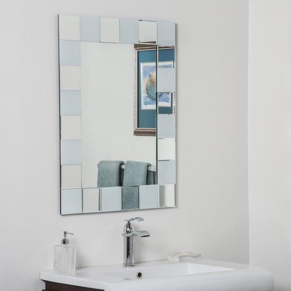 Shop ali glass beveled bathroom mirror free shipping today 13002480 for Beveled glass bathroom mirror