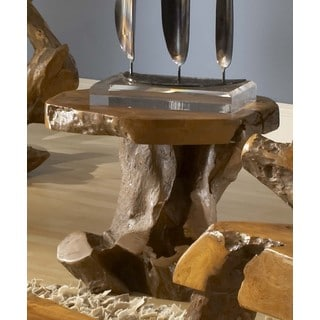 Handmade Groovystuff TF-0648-18 Sierra Brown Teak Root Wood Small End Table (Thailand)