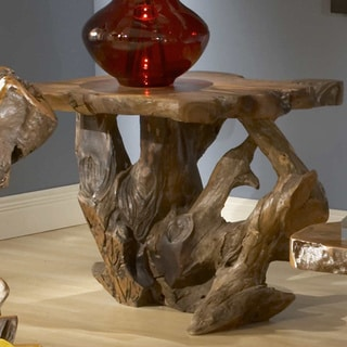 TF-0795 Bighorn Brown Teak Root End Table (Thailand)