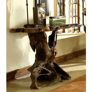 Handmade Groovystuff TF-0796 Sierra Reclaimed Teak Wood Wall Console Table (Thailand)