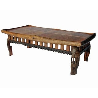 Handmade Groovystuff TF-0067 California Reclaimed Teak Wood Coffee Table (Thailand)