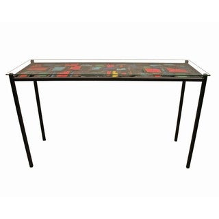Multicolor Steel Collage Sofa Table