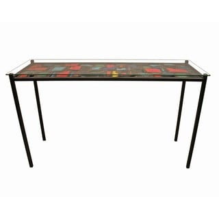 TF-1004-S Multicolor Steel Collage Sofa Table