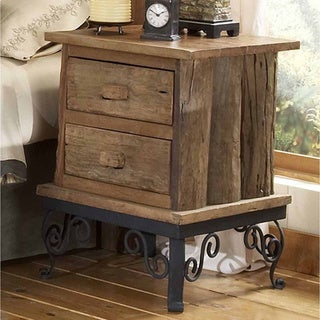 Hill Country Brown Wood Side Table