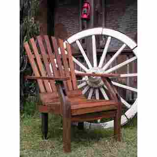 TF-0257 Groovystuff Brown Teak and Reclaimed Wood Adirondack Chair
