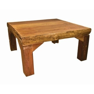 Groovystuff TF-0470 Ranch House Reclaimed Brown Teak Wood Coffee Table